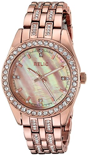 Relic by Fossil Women's Iva Quartz Metal Sport Watch, Color: Rose Gold (Model: ZR34421)