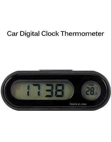 AOZBZ Reloj de Coche, Pantalla LCD Grande 2 en 1, Reloj Digital para Coche
