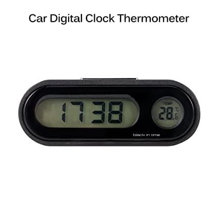 Amazon.com: AOZBZ Car Clock, 2 in 1 Large LCD Display Car Digital Clock with Thermometer,Use for Car Dashboard/Home/Office (ONLY Support Celsius Degrees): ...