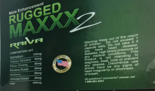 Rugged Maxxx 2 Raiva 100 Herbal male enhancer supplement lasting 3 to 5 days – Increased Energy, Increased Stamina, Fuller Erection Bolvine Capsule 10 Pack