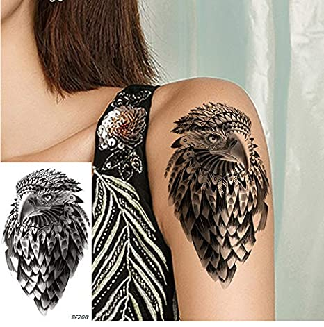 Tatuaje De Águila Negra Pegatinas Chica Arte Corporal Brazo ...