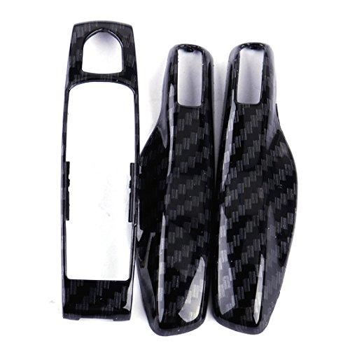 CITALL Remote Smart Key Cover Fob Fit for Porsche Panamera Boxster 911 Macan Carbon Fiber Texture
