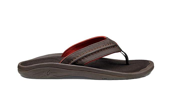 OLUKAI Hokua Supportive Sandals - Men Dk Java/dk Java - 12