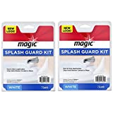 Magic Splash Guard Kit - Prevent Water from Splashing out of the Bath or Shower- White (2 Pack)