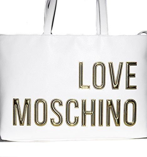 Love Moschino JC4080, Tote para Mujer, 11x29x47 cm (B x H x T) white