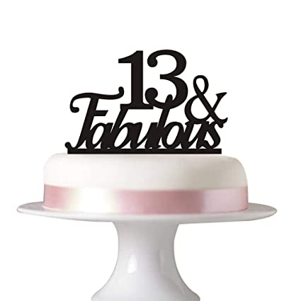 Image Unavailable Not Available For Color 13 Fabulous Cake Topper 13rd Birthday