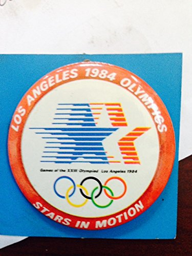 Logo Pin Badge - NEW 1984 Summer Olympics Los Angeles Logo Pin Badge - Super Rare & Collectible - Vintage - Official Collectors Item - Olympic Stars & Rings - Says