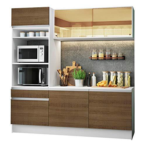Cozinha Compacta Madesa Diamante com Armário, Balcão e Tampo