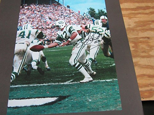 John Schmitt New York Jets (John Schmitt New York Jets AUTO SIGNED 11x14 Photo w/NAMATH w/COA Super Bowl 3 CHAMPS)
