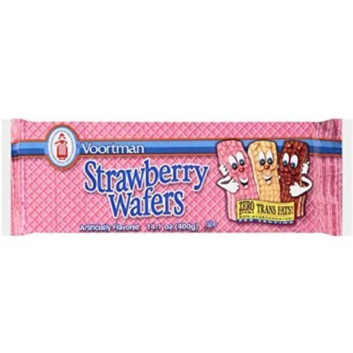 Voortman, Sugar Free, Strawberry Wafers, 9oz Bag (Pack of (Strawberry Sugar Cookies)