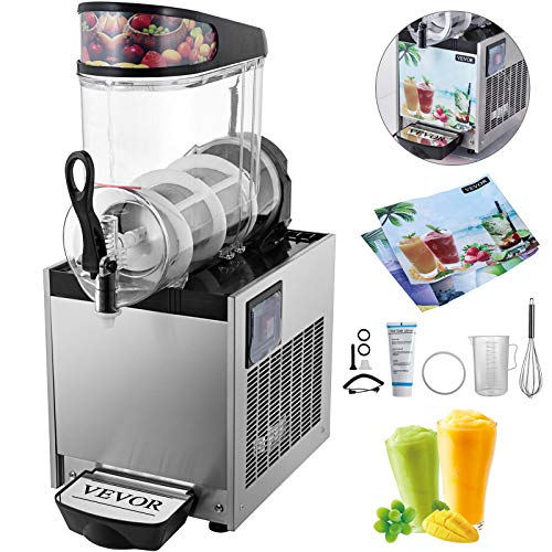 - VEVOR 110V Slushy Machine 12L*1 Single-Bowl Slush Frozen Drink Machine 700W Frozen Drink Maker Ice Slushies for Supermarkets Cafes Restaurants Snack Bars Commercial Use