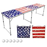 Sports Festival 8-Foot Portable Beer Pong (America Flag)