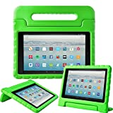 Fire HD 10 Tablet Case,Surom All-New Fire HD 10 2017 Case,Light Weight Shock Proof Convertible Handle Kid-Proof Cover Kids Case for All-New Fire HD 10 Tablet (7th Generation, 2017 Release),Green