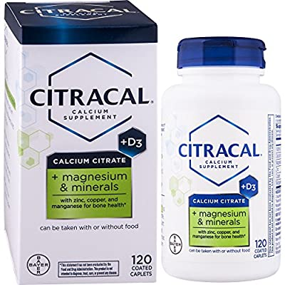 Citracal Plus Magnesium Tablets with Vitamin D, 120 Count