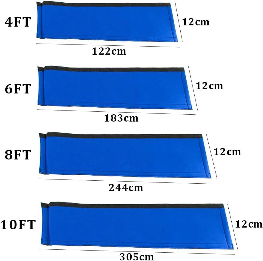 Cubierta para barandilla de alberca para escaleras de piscina pasamanos de seguridad de la piscina cubierta protectora antideslizante color azul de tela Oxford