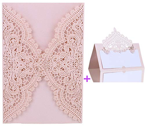 24pcs Wedding Invitations Cards and Table Name Place Cards for Event & Party