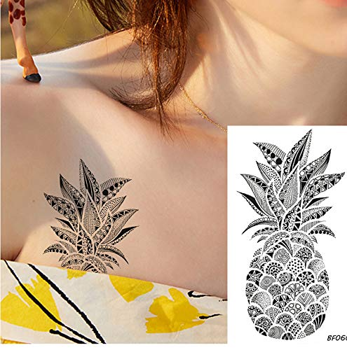 yyyDL etiqueta engomada colorida del tatuaje Lindo Piña Pegatinas ...