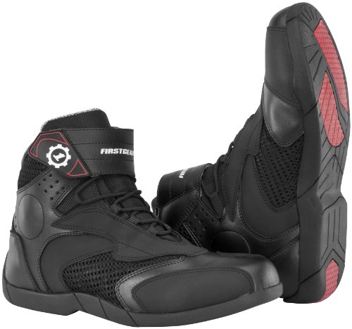 Firstgear Street Bike - Firstgear Mesh Lo Men's Motorcycle Boots (Black, Size 12)