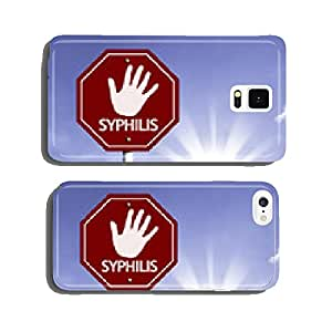 Stop Syphilis red sign with sun background cell phone cover case iPhone5