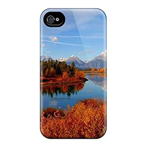 IOCVcPi2734CqOWU Tpu Case Skin Protector For Iphone 4/4s Glorious River In Autumn With Nice Appearance