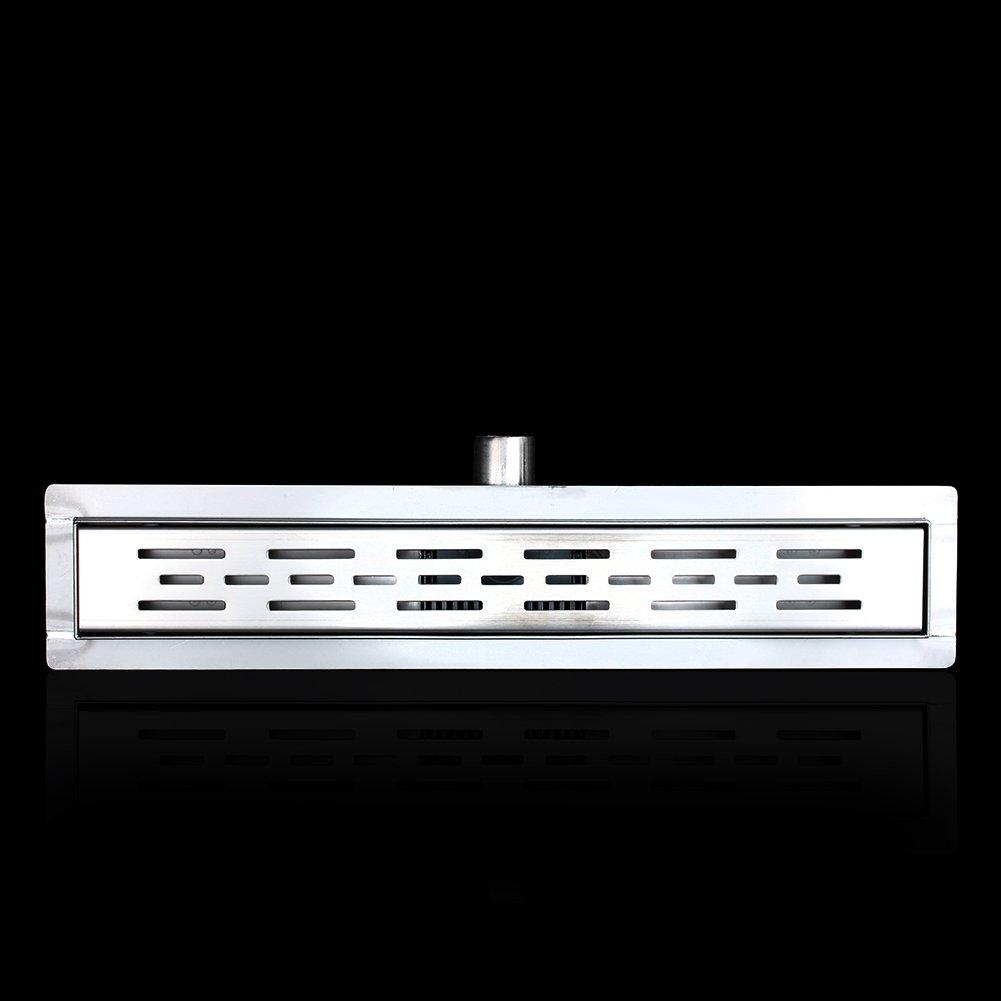 canaleta para ducha para ba/ño o cocina en el suelo con diferentes medidas de suelo sif/ón Desag/üe de suelo para ducha de acero inoxidable canal de desag/üe de suelo