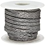 Palmetto 5010 Series Flexible Graphite with Inconel Wire Compression Packing Seal, Dull Gray, 3/4'' Square, 10' Length