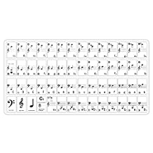 Neewer® Piano and Keyboard Music Note Full Set Stickers with User Guide for 49, 61, 88 White and Black Keys