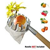 JzNova Fruit Picking Tool, Fruit Picker Head Basket, Fruits Catcher Tools for Picking Apple, Orange, Pear, Pawpaw, Persimmon, Nut (1 Pack)