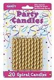 Toys : 20 Pkg ~ Culpitt Gold Spiral ~ Cake Decorating Candles