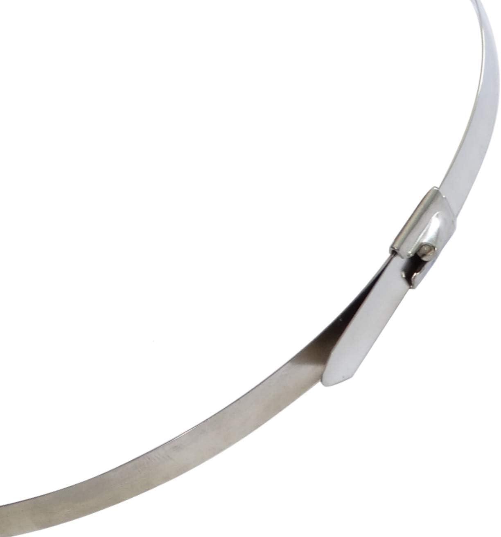 AERZETIX 7.9mm x 840mm 84cm 10 Abrazaderas de sujeci/ón bridas met/álicas inox acero inoxidable C42158