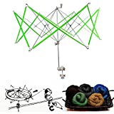 Metal Swift Wool Yarn String Winder Holder,Knitting Umbrella Swift Yarn Winder,Hand Operated Winder,Knitting Ball Winders for Winding Lines, Yarns, Fiber Home Supplies