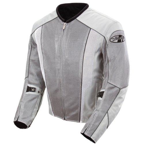 Joe Rocket Phoenix 5.0 Men's Mesh Motorcycle Riding Jacket (Silver/Silver, Large)