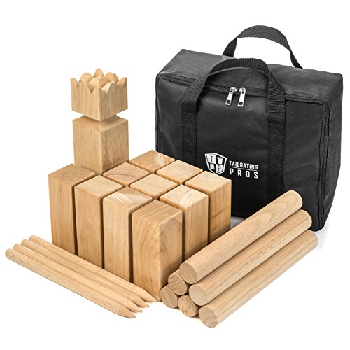 Tailgating Pros Premium Wooden Kubb Lawn Game by Tailgating Pros