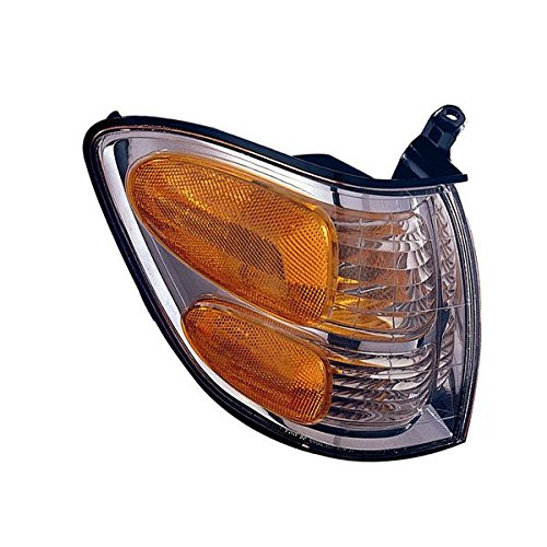 Pickup Park Lamp Assembly (2001-2002-2003-2004 Toyota Sequoia & 2004 Tundra Pickup Truck Park Corner Lamp Turn Signal Marker Light Right Passenger Side (01 02 03 04))