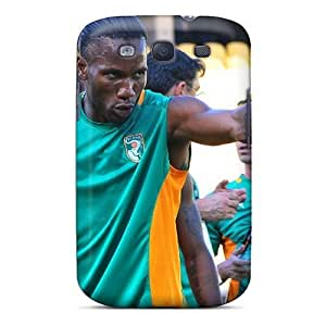 Phonedecor The Forward Of Galatasaray Didier Drogba Before The Game Durable Galaxy S3 Tpu Flexible Soft Case