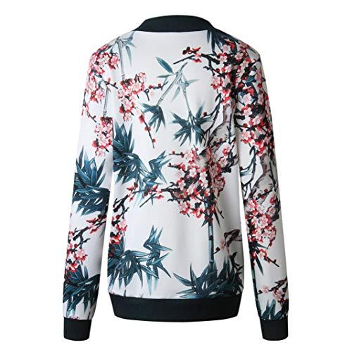 Zipper Cuello Mejor O De Casual Up Chaqueta Floral Las Bomber Azul Retro Mujeres Overdose Outwear SeñOras Venden P0x1qYx8