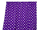 Polka Dot Curtains Zen Creative Designs Premium Cotton Polka Dot Curtain Panel / Home Window Decor / Window Treatments / Dots / Spots (63 Inch x 58 Inch, White Purple)