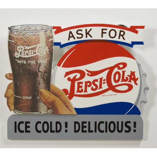 Pepsi Ice Cold Wooden Sign (Pepsi Cola Ice)