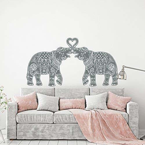 Amazon.com: Indian Elephant Wall Decal Boho Bohemian