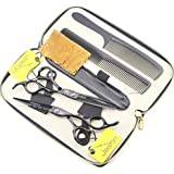 JASON Professional Black Hair Cutting Scissors Shears Barber Thinning Set Kit with Leather Case Salon Hairdresser Hair Cutting Tool