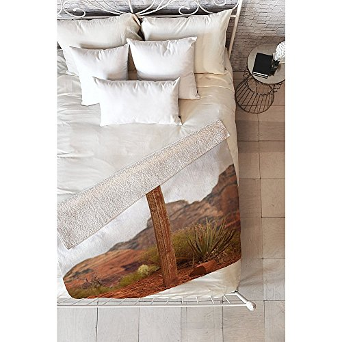 Deny Designs Barbara Sherman Sherpa Fleece Blanket (Trail Orange - End of