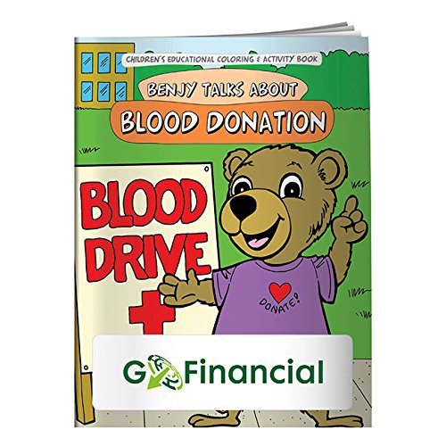 BIC Graphic Coloring Book: Blood Donation White 500 Pack by BIC (Image #1)