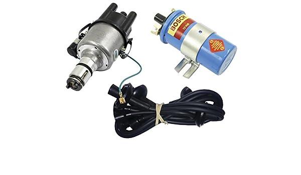 amazon com: screamer kit black, with empi 9431-b 009 distributor & bosch  blue coil, for vw bug, beetle, ghia, bus, type 3: automotive