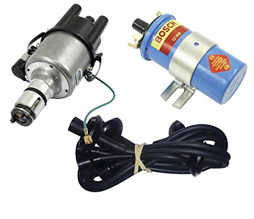 (SCREAMER KIT BLACK, WITH EMPI 9431-B 009 DISTRIBUTOR & BOSCH BLUE COIL, FOR VW BUG, BEETLE, GHIA, BUS, TYPE)