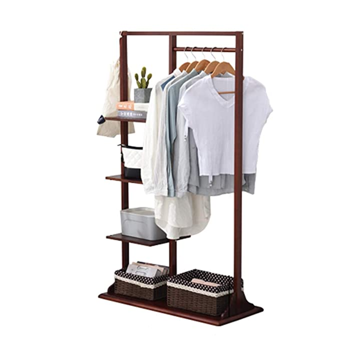 Amazon.com: DYFYMX Coat Rack Floor-Standing Black Walnut ...