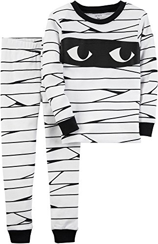 Carters Toddler Boys Halloween Mummy Pajama Set 3T White/black - Toddler Halloween Clothing