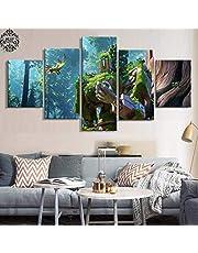 Muur Kunst Canvas Schilderen Poster 5 Paneel Overwatch HD Afgedrukt Afbeeldingen Afdrukken Modern Huisdecoratie