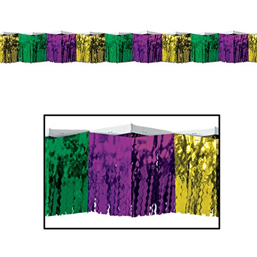 Stumps Mardi Gras Diamond Metallic Fringe Drape