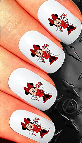 Amazon Christmas Nail Art Decals Transfer Stickers Minnie Mouse