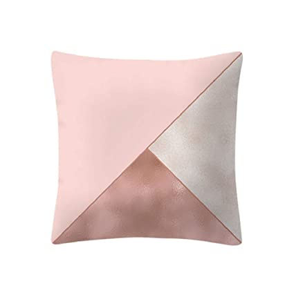 LONUPAZZ Rose Or Rose Housse De Coussin Velours